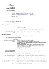 cv format word doc european cv template doc images certificate design and template