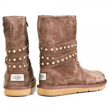ugg s boots chocolate 62 ugg shoes euc chocolate brown studded uggs from andrea s