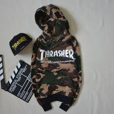 this thrasher hoodie on the hunt