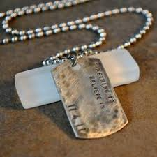 custom dog tag necklace rustic dog tag necklace vintage style dogtag necklace personalized
