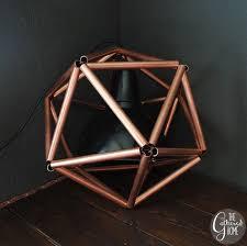 copper pipe light fixture diy copper pipe icosahedron light fixture pipes pendant lighting
