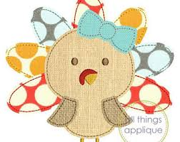 turkey applique etsy