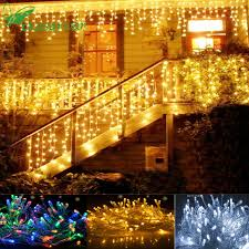 eve drop christmas lights navidad noel christmas lights outdoor decoration home 10m 4m led