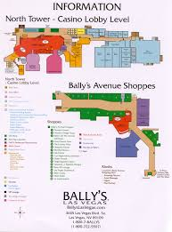 Hotels In Las Vegas Map by Bally U0027s Hotel Map Layout