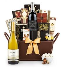 gift baskets with wine california classic wine gift basket