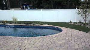 basketball court pool deck landscape installed in wareham youtube