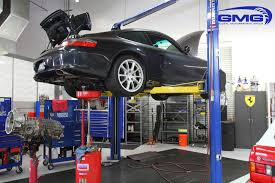 porsche factory gmg racing porsche 996 gt3 in for factory service clutch