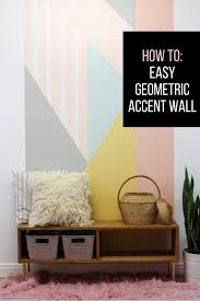 how to easy diy geometric accent wall u2013 hawthorne and main