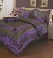 Zebra Comforter Set King Bedroom Luxury And Magnificent Purple And Black Zebra Comforter