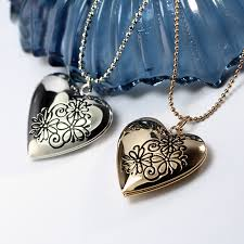 Personalized Photo Locket Necklace Online Get Cheap Gold Locket Necklace Engraved Aliexpress Com