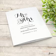 Beach Wedding Program Templates Printable Folded Order Of Service Wedding By Connieandjoan On