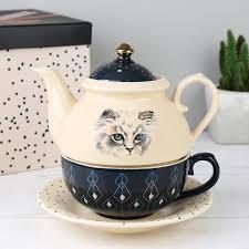 teapot set house of disaster meow tea for one teapot set angel