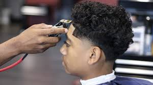 taper fade curly hair barber tutorial taper fade curly top shear work youtube
