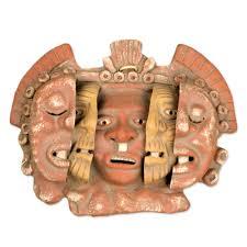 aztec archaeological ceramic mask u0027three ages of man u0027 masking