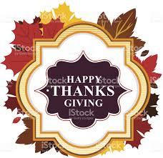 happy thanksgiving design sign card label with leaves stock vector