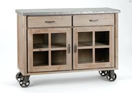 meuble cuisine zinc meuble cuisine bois et zinc buffet roulettes amadeus meuble