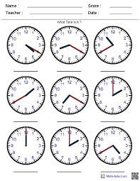 telling time 5th grade pinterest telling time worksheets