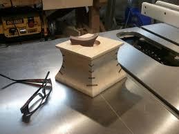 miter cuts on table saw table saw cove miter spline box in progress woodworking talk