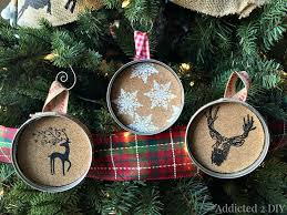embossed jar lid ornaments