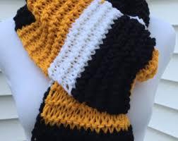 steelers scarf etsy