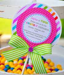 invitation cards candyland invitations