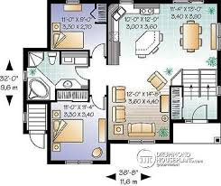 split house plans multi family plan w3323b detail from drummondhouseplans