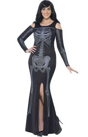 Ladies Skeleton Halloween Costume by Gothic Halloween Costumes