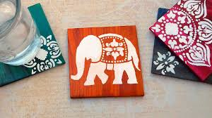 diy coasters how to make dyed u0026 stenciled coasters running with