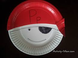 the activity mom paper plate alphabet craft p is for pirate