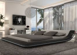 cityscape modern bed with led lighting