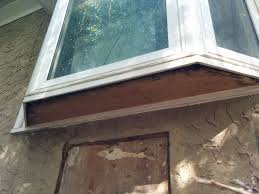 how to repair rotten plywood board under vinyl bay bow window entire underside