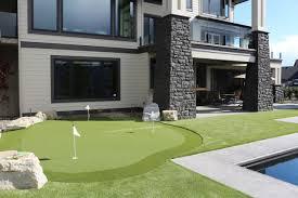 backyard putting green synthetic turf edmonton
