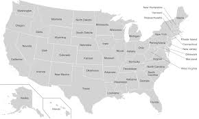 Black And White United States Map by U S State Wikipedia