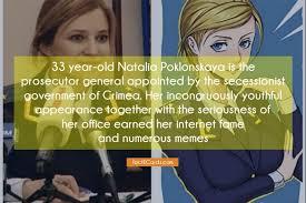 Natalia Meme - 33 year old natalia poklonskaya is the prosecutor general
