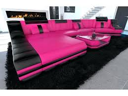 pink leather sectional sofa pink leather furniture contemporary style pink leather design
