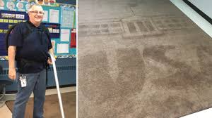 Rug Art Janitor Surprises Students With Creative Rug Art Designs