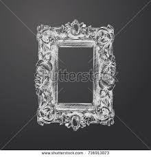 hand drawn round picture frame sketch stock vector 725614825