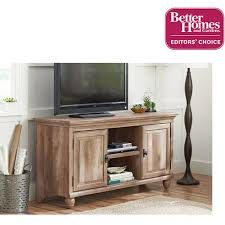 walmart tv table stand better homes and gardens crossmill collection tv stand console