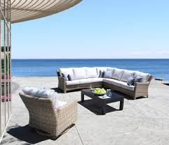Grey Wicker Patio Furniture by Furniture Wicker Patio Furniture With Grey Ceramic Floor And Grey