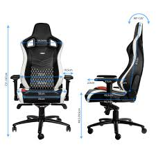 Leather Gaming Chairs Epic Real Leather Black White Red Noblechairs