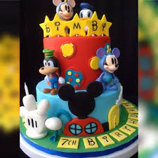 mickey mouse clubhouse themed cake cakecentral com