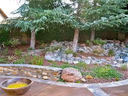 Backyard Landscaping Ideas With Rocks by Backyard Hillside Landscape Ideas Designs Ideas And Decor