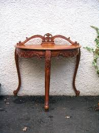 wellington hall end table coffee table sofa hall table side crescent shaped console hallway