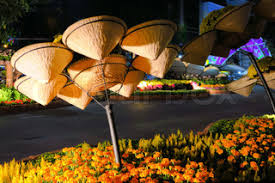 Vietnamese New Year Decoration ho chi minh city vietnam 16 feb 2015 sai gon city center at