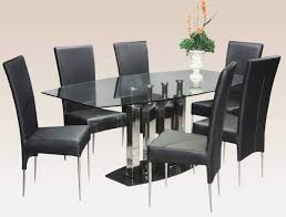 6 Seater Oval Glass Dining Table Glass Round Dining Table For 6 Intended For Glass Round Dining