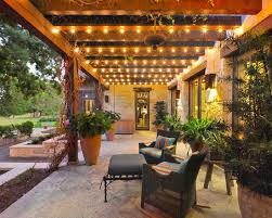 Under Awning Lighting String Lights Outdoor Walkway Wood Pergola And Walkways