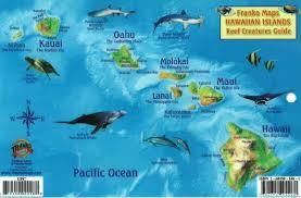 Molokai Map Islands Reef Creatures Fish Id Card By Frankos Maps Ltd