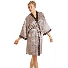 robe de chambre en satin robe de chambre en satin pour femme imprimé tailles 36 à