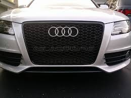 audi rs4 grille installing rs4 grille tonight should i add quattro decal like