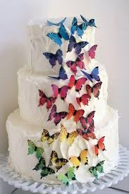 butterfly cake toppers 28 rainbow ombre edible butterflies 1 1 2 across cake